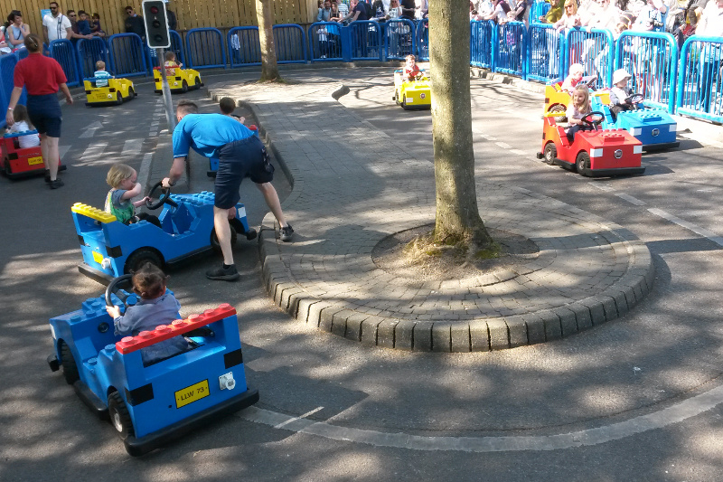 Kids can drive a lego-car at Legoland Windsor - tips for a family day out