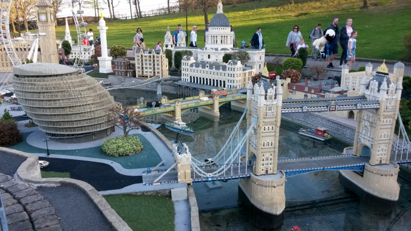 London buildings made of lego at Legoland Windsor