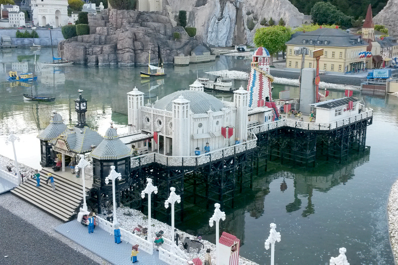 Brighton Pier made of lego at Legoland Windsor