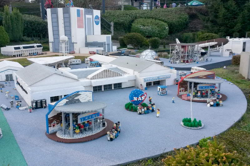 NASA at Miniland - made of lego at Legoland Windsor