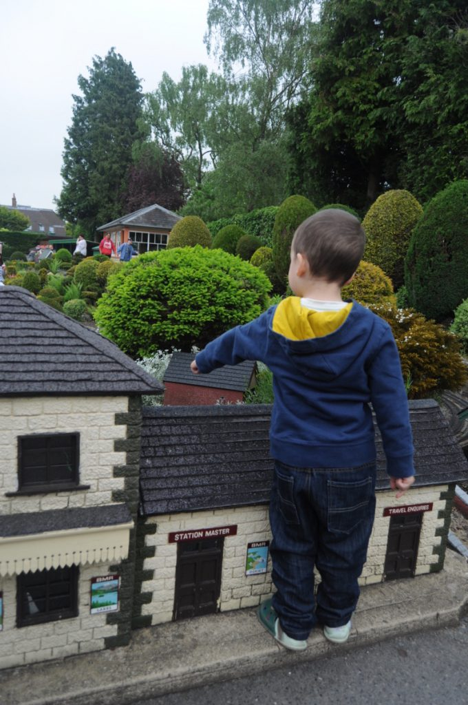 Children love exploring the miniature model village - a great idea for a day out as a family