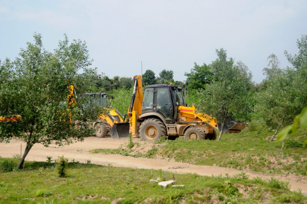 Drive a loader at Diggerland - where kids play on a construction site