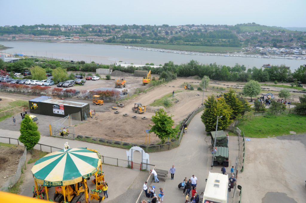 View from above - tips for a day out with kids at Diggerland