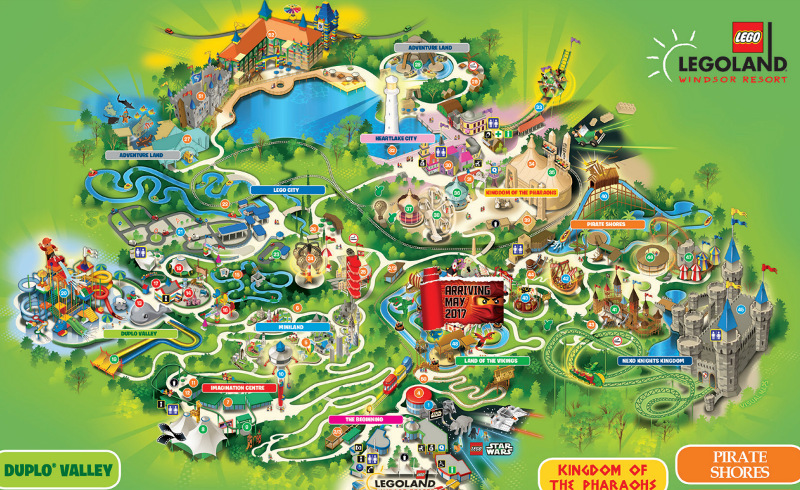 The map of Legoland Windsor