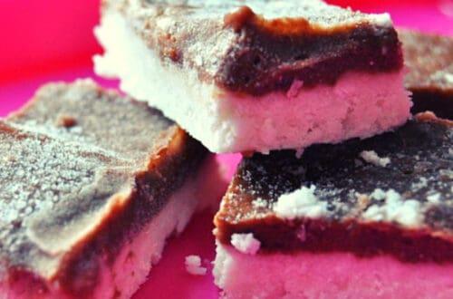 Coconut and cocoa bars recipe