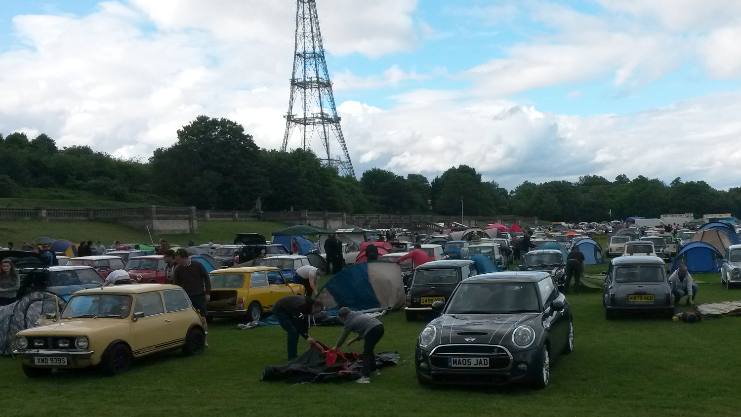 Campsite of the Mini Run in Crystal Palace, London