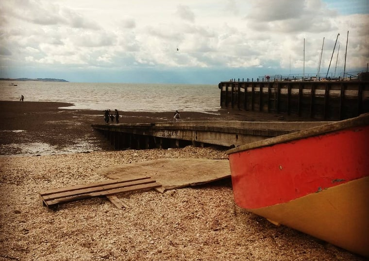 The shingle beach of Whitstable