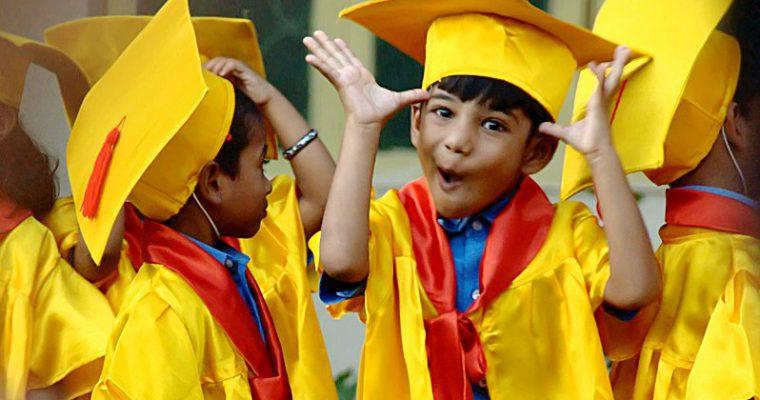 My son's pre-school graduation