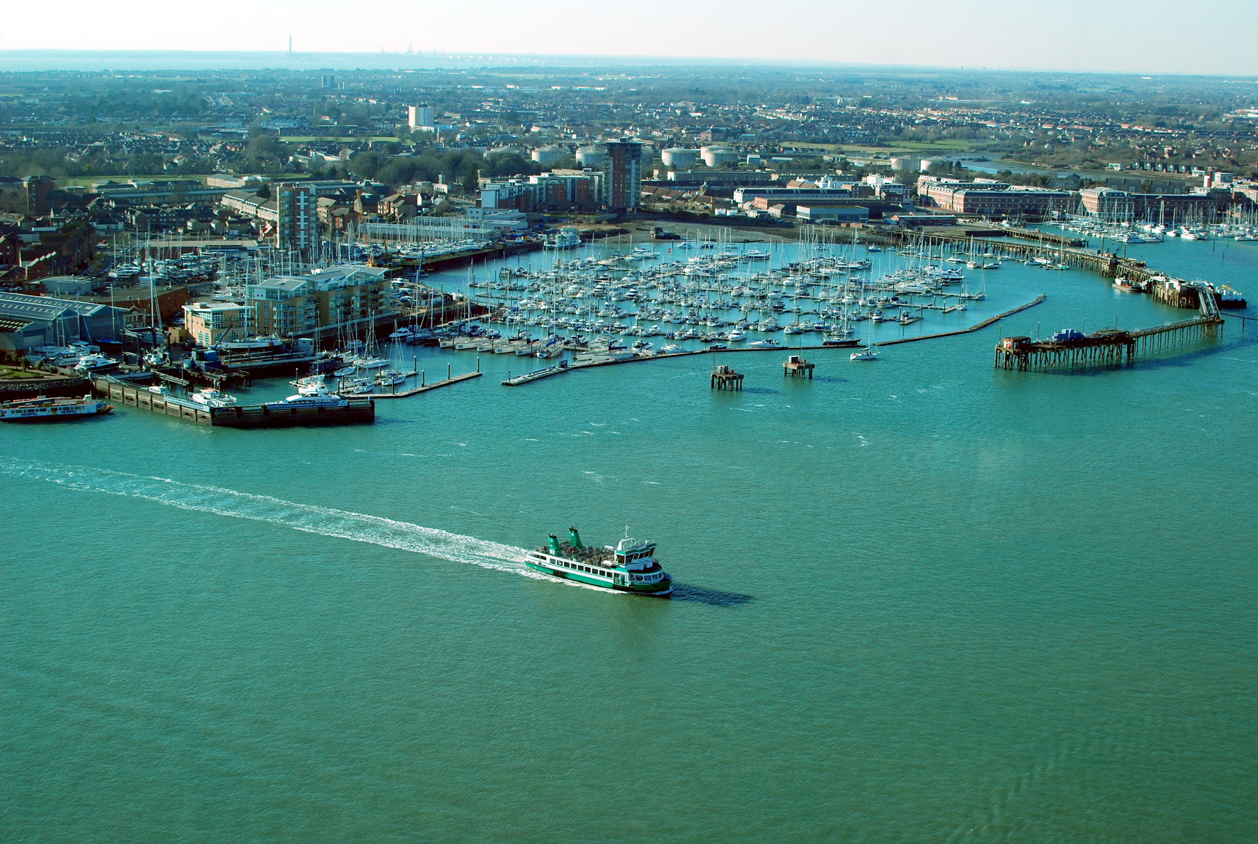 West view from Spinnaker Tower, Portsmouth
