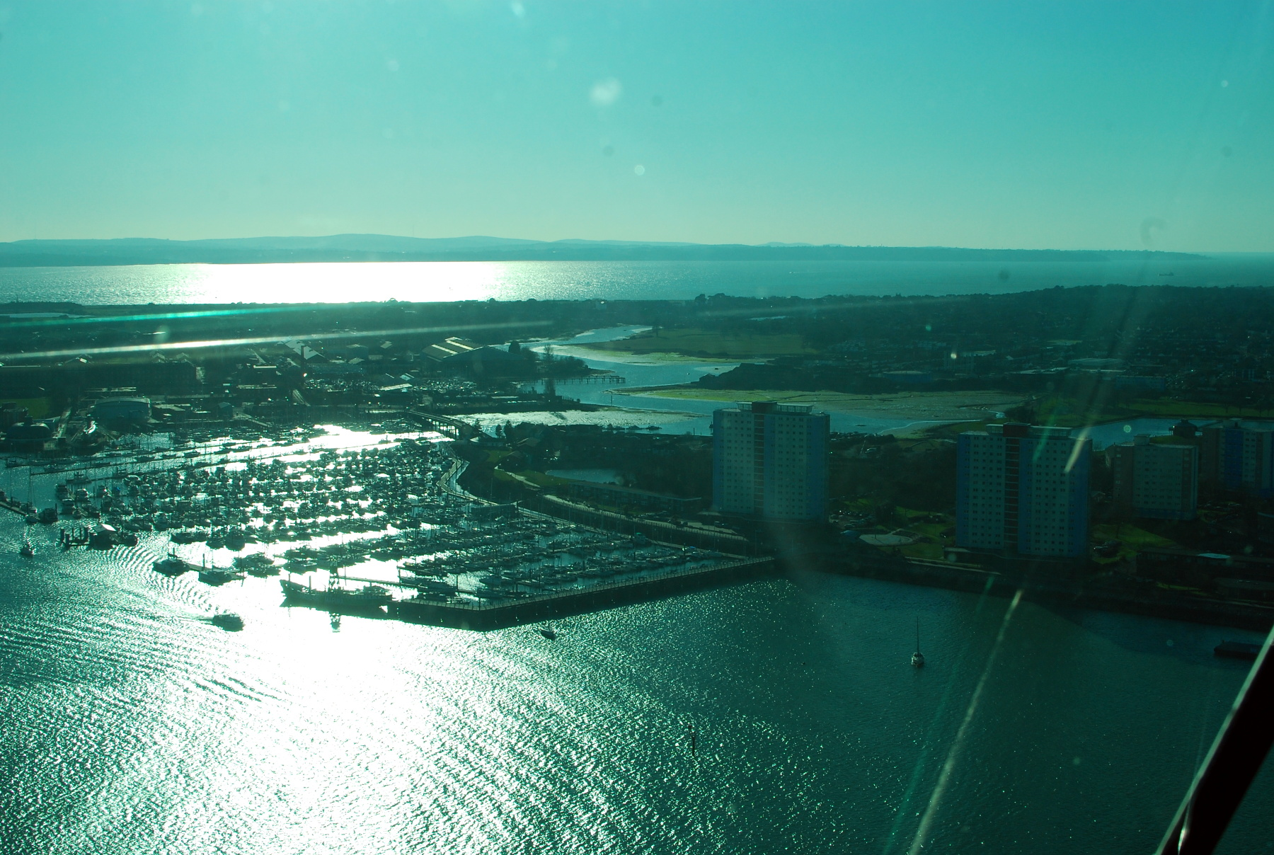 View of Haslar Lake from Spinnaker Tower