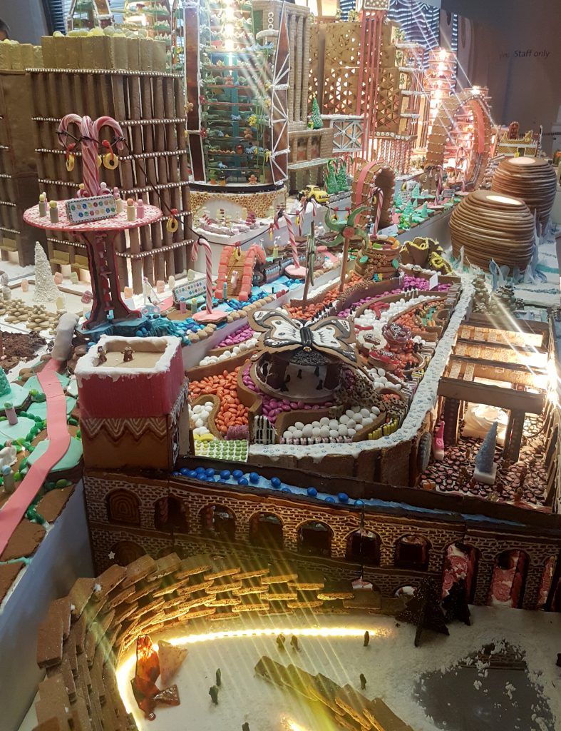 Gingerbread architecture at V&A Museum in London