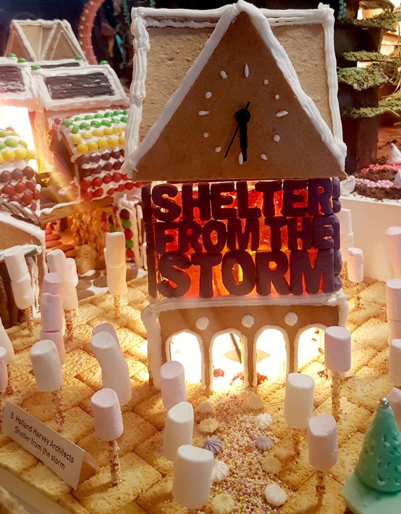 Shelter from the storm - gingerbread house