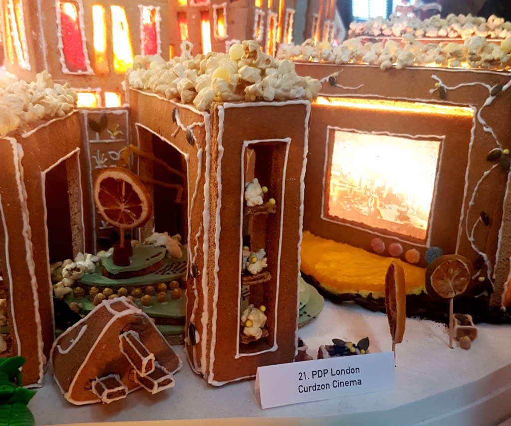 Cinema made of gingerbread at V&A Museum in London