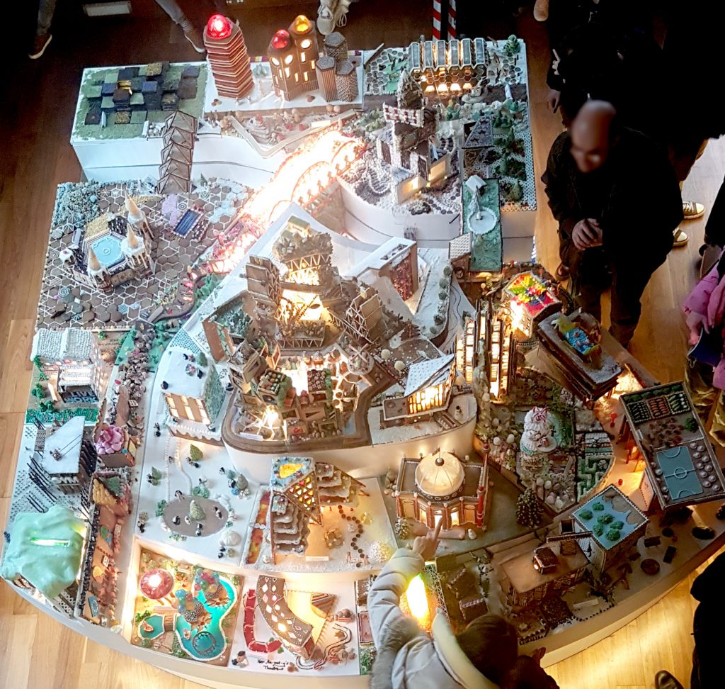 Explore Gingerbread City with kids around Christmas time