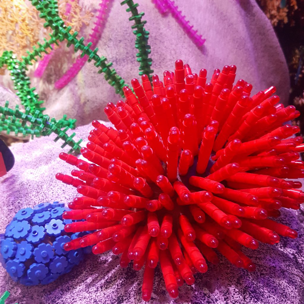 Coral made of Lego bricks