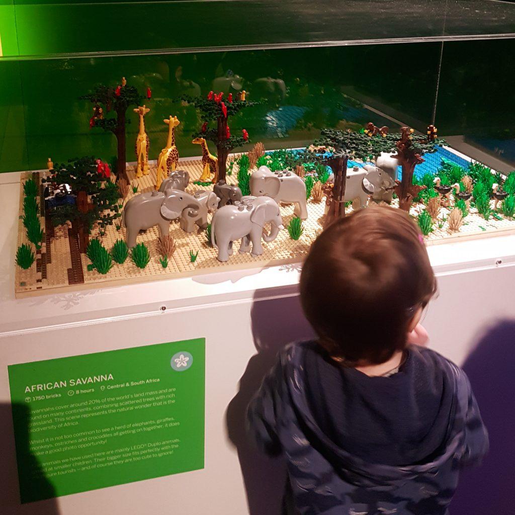 African Savanna made of Lego bricks at Horniman Museum in London