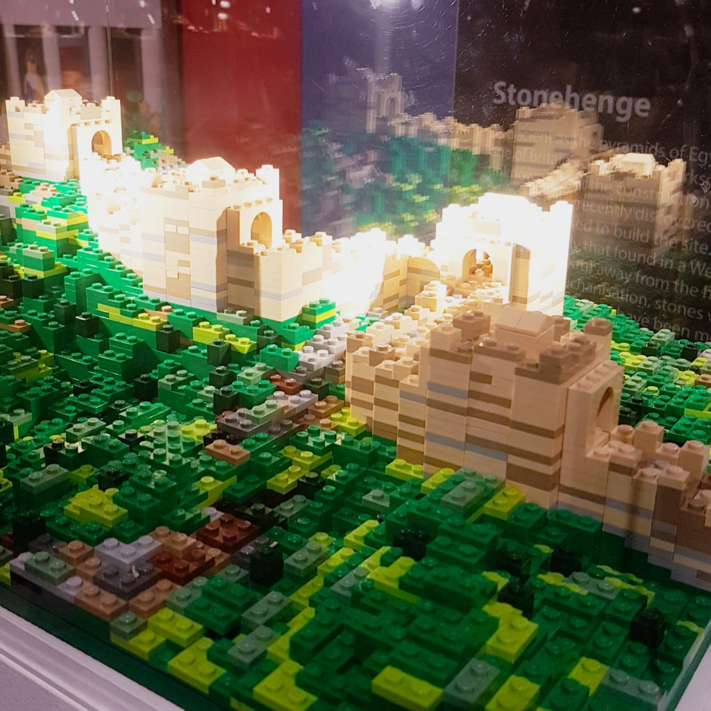 Great Wall of China, built in North China in 72 hours with 7000 Lego bricks