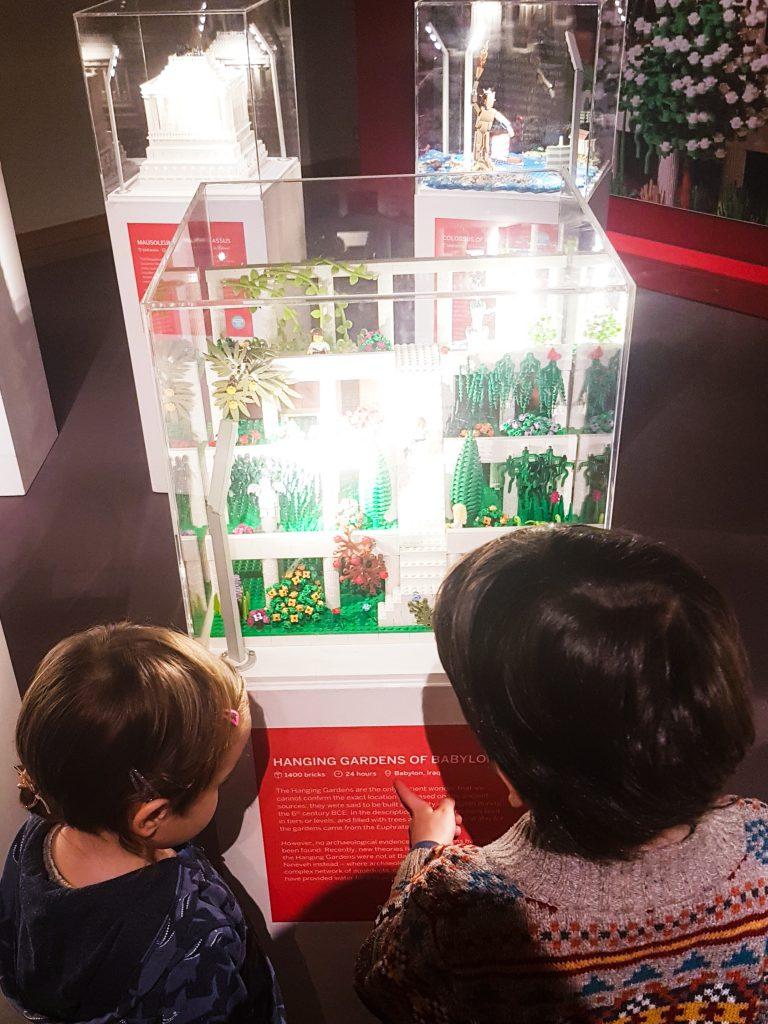 Hanging Gardens of Babylon, build in Babylon, Iraq, in 24 hours, using 1400 Lego bricks