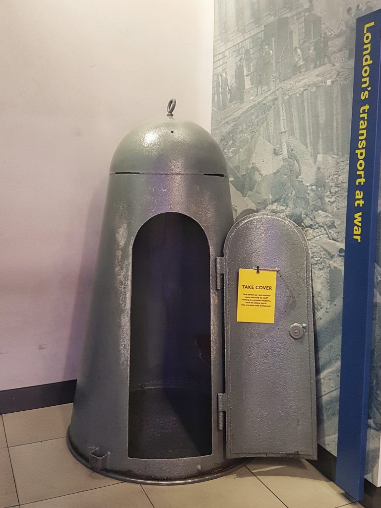 Air shelter at Transport Museum in London