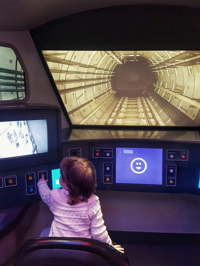 Children get to drive an underground train