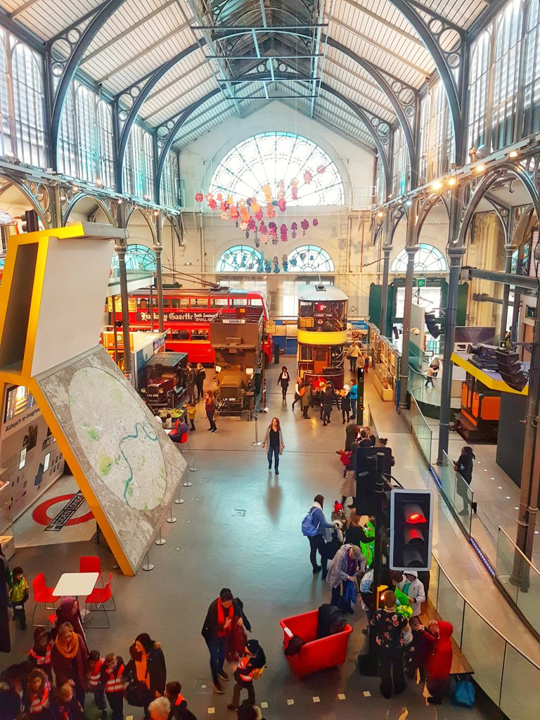 View from above at London Transport Museum