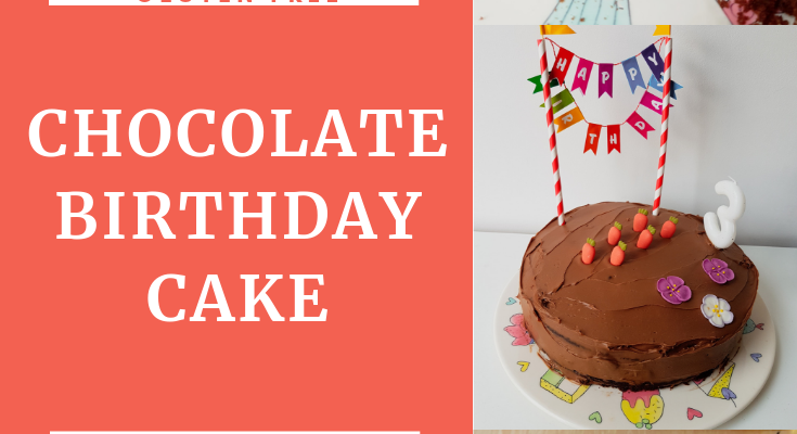 Chocolate birthday cake – free from gluten and sugar