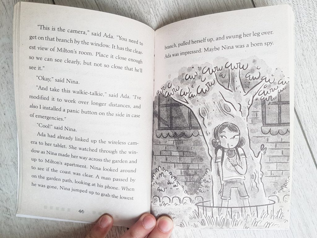 pages from Ada Lace books for children