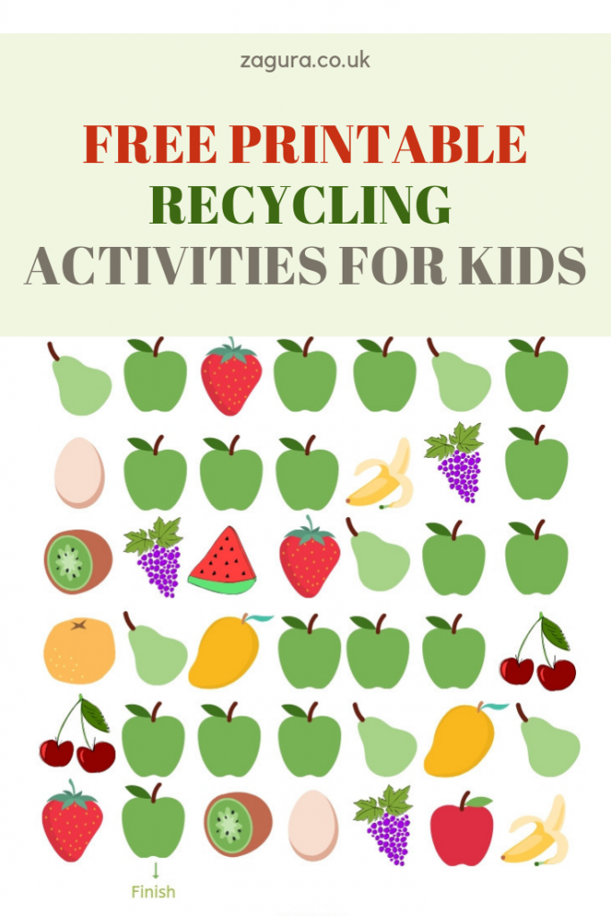 Free printable recycling activities for kids