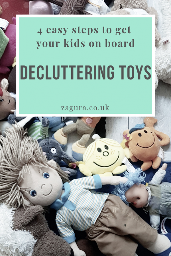 Gentle parenting approach - teaching kids how to declutter toys
