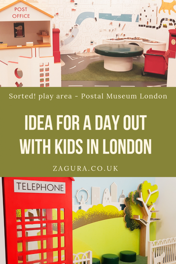 Idea for a day out with kids in London - Sorted Play Area at Postal Museum