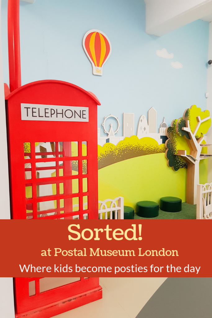 Postal Museum Sorted area - where children become posties for the day and have fun in London