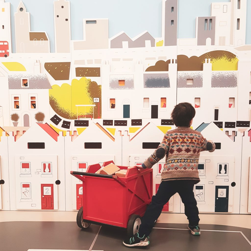 Children delivering the mail - being a postie at Postal Museum