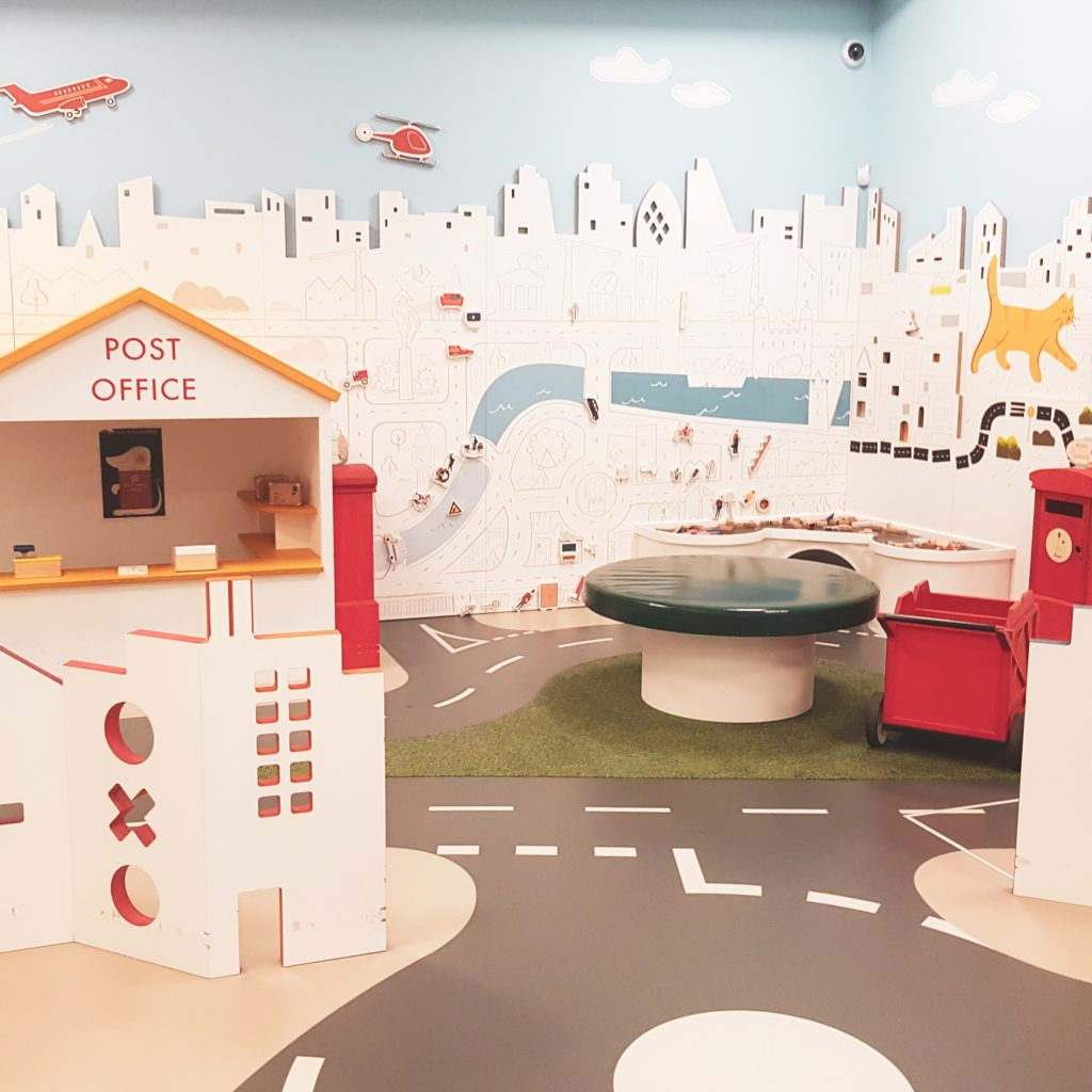 Sorted! area at Postal Museum in London - the baby area