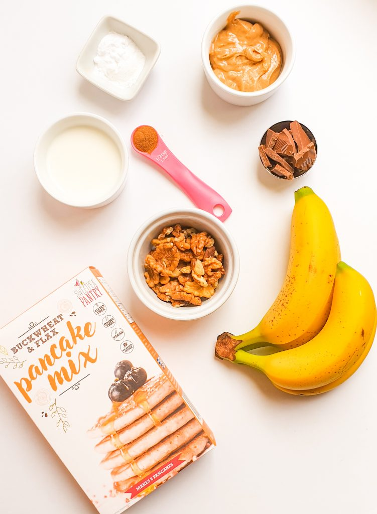 ingredients for banana bread - cooking with kids