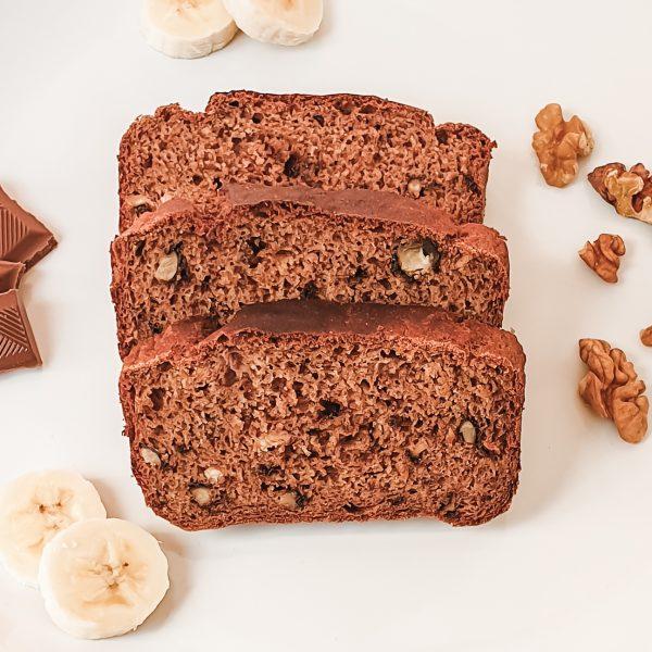 Banana bread recipe - gluten-free, dairy-free, sugar-free, vegan