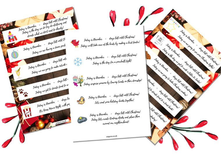 30 ideas for advent calendar - free download