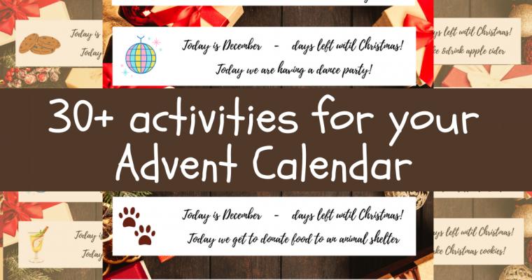 30+ Advent calendar activities – an alternative to the shop-bought calendars