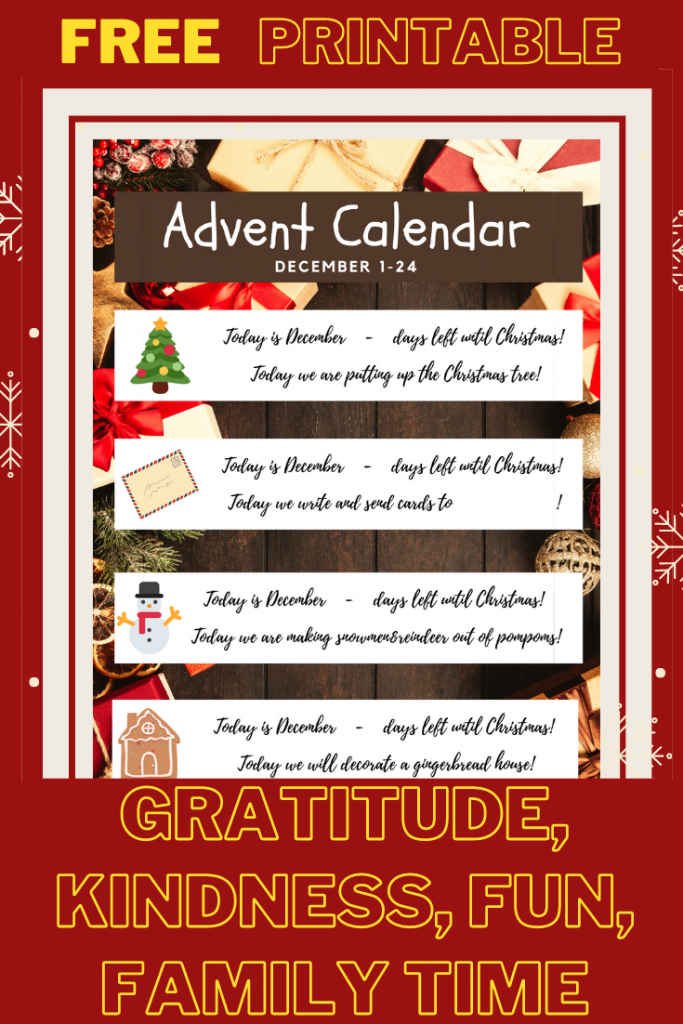 30+ Activities for Advent Calendar - Free printable