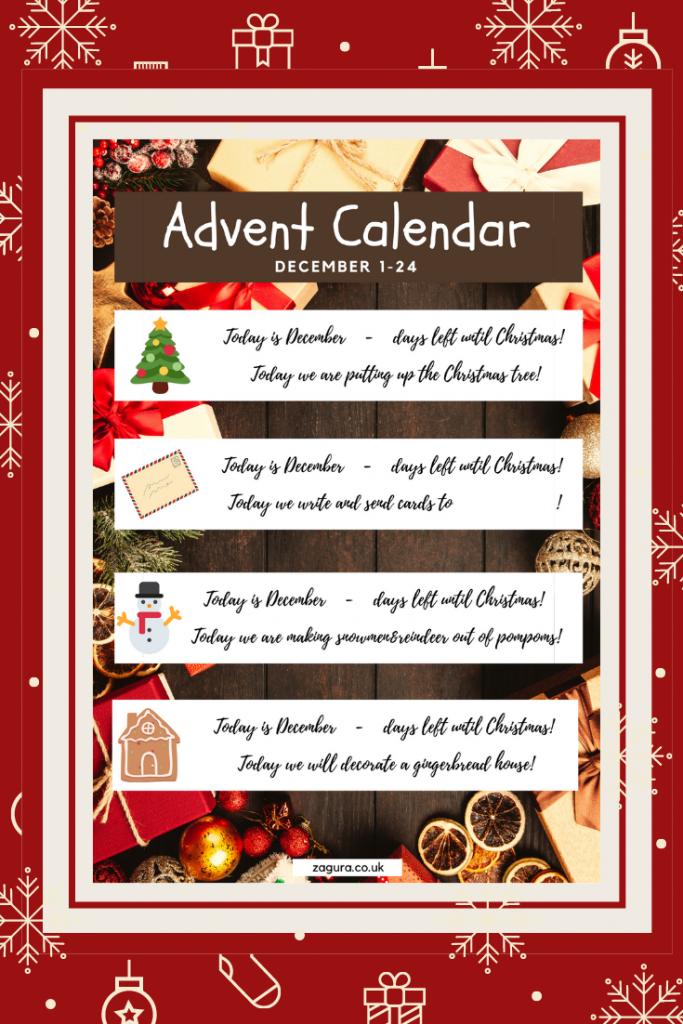 30+ Activities for Advent Calendar