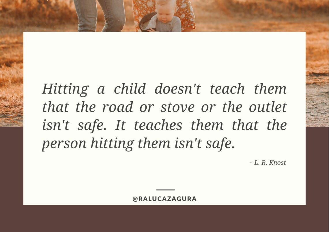 Respectful parenting - what hitting teaches children