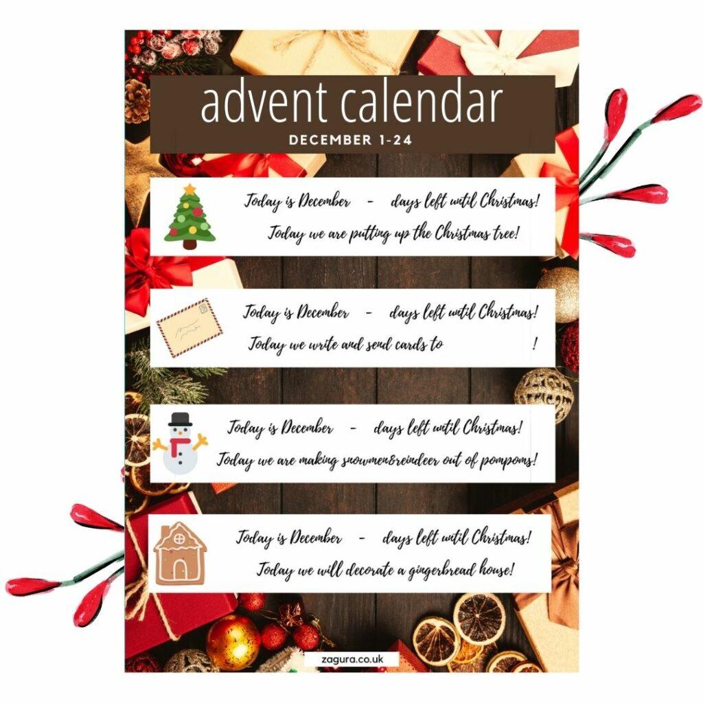 DIY Advent Calendar 1-24 december